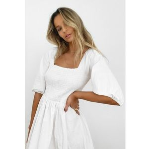 NWT - Shirred Maxi Dress - Nasty Gal